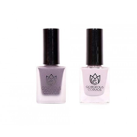 Premium-Combo of Purple Phantasm Shade & Rarefied Air Shade Toxic Free Nail Polish (10 ML + 10 ML)