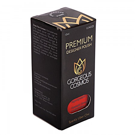 Premium-(Red Color) Fire Craker Shade Toxic Free Nail Polish 10 Ml