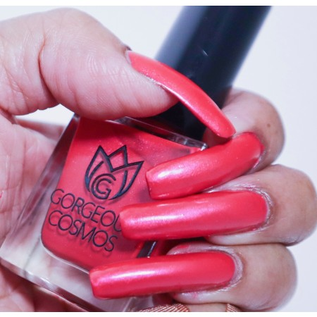 Waterbased Red Nailpolish - Red Cerise