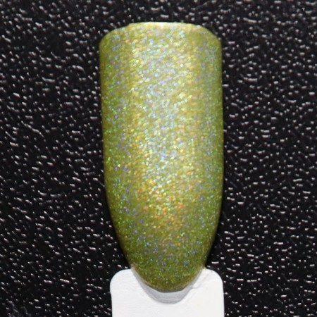 Gorgeous Cosmos Linear Holographic Tropical Noontime Non Toxic Golden Nailpolish 10 ml