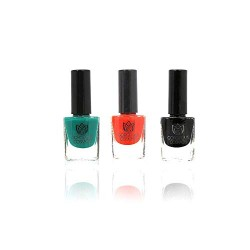 Classic- Combo Patent Pine Scarlet Toxic Free Nail Polish Color 18 Ml (6 Ml Each)