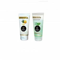 Neem & Bhrahmi Acne Control Perfect Deep Clesnsing Face Wash 200 Ml & Gorgeous Cosmos Alovera & Honey Moisturising Paraben Free Nourishing & Healing Lotion 150 ml
