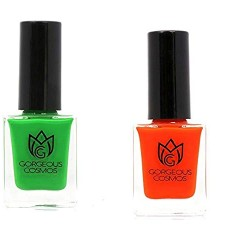 Classic- Combo of (Red) Candy Apple & Parakeet (Parrot color) Toxic Free Nail Polish 10 Ml