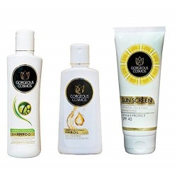 Combo of Henna Liquorice Shampoo (200 ML), Anti Hair Fall Hair Oil (100 ML) & Sunscreen Lotion SPF 40 (50 Ml)