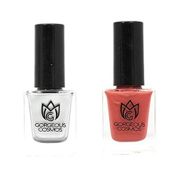 Classic- Combo of Tea Rose & Taffeta Shade Toxic Free Nail Polish (10 ML+10 ML)