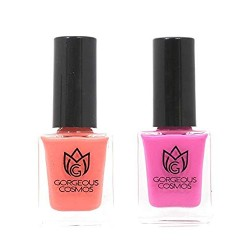 Classic- Combo of Pink Dusty Fuchsia & Flamingo Toxic Free Nail Polish (10 ML + 10 ML)