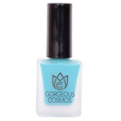 Premium- Matte (Skyblue Colour) UNCUT TURQUOISE MT Shade Toxic Free Nail Polish 10 Ml